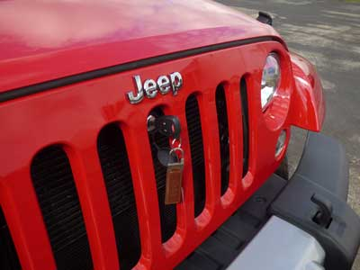 Jeep Wrangler Bonnet or Hood Lock