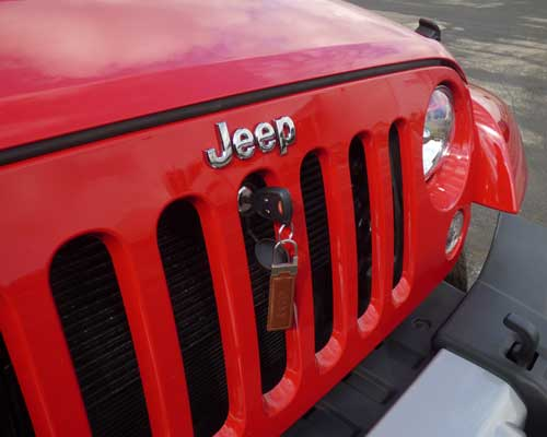 Jeep Wrangler Bonnet Lock