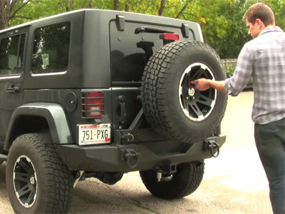 Jeep Wrangler Spare Tire Lock